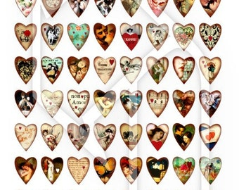 Hearts for Valentine Digital Collage Print Sheet no223