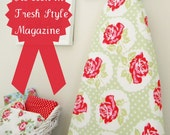 As seen in Fresh Style Magazine - Ironing Board Cover - Lulu Rose in Green