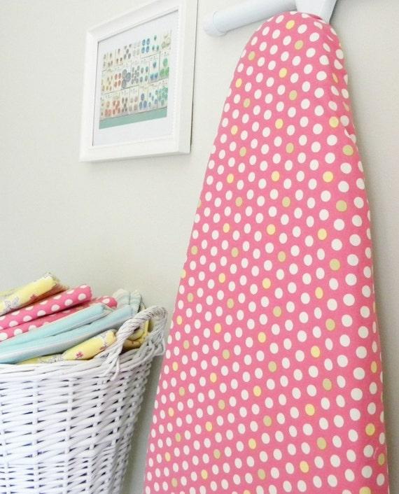 Ironing Board Cover - Pink Polka Dot