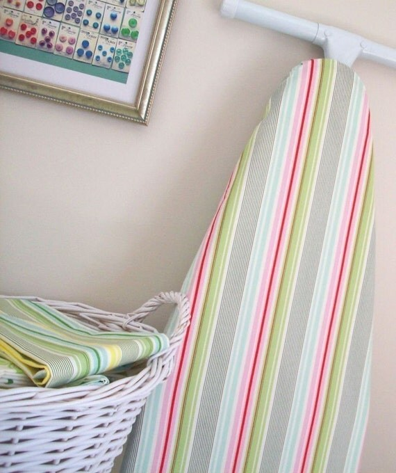 Ironing Board Cover - Slim Dandy Stripes in pink