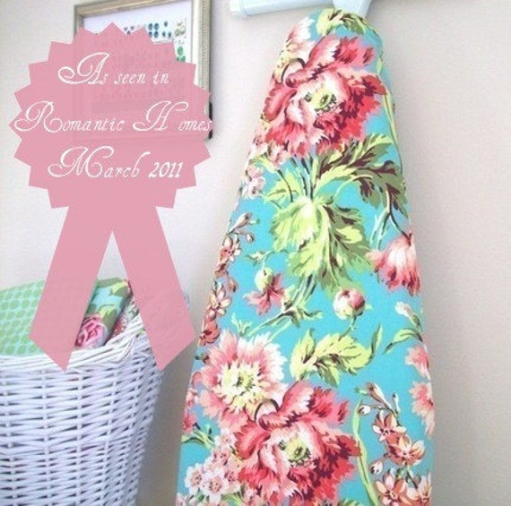 Ironing Board Cover - Bliss Bouquet in Teal