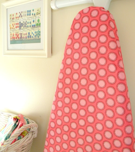 Ironing Board Cover - Amy Butler Laurel Dots in Pink