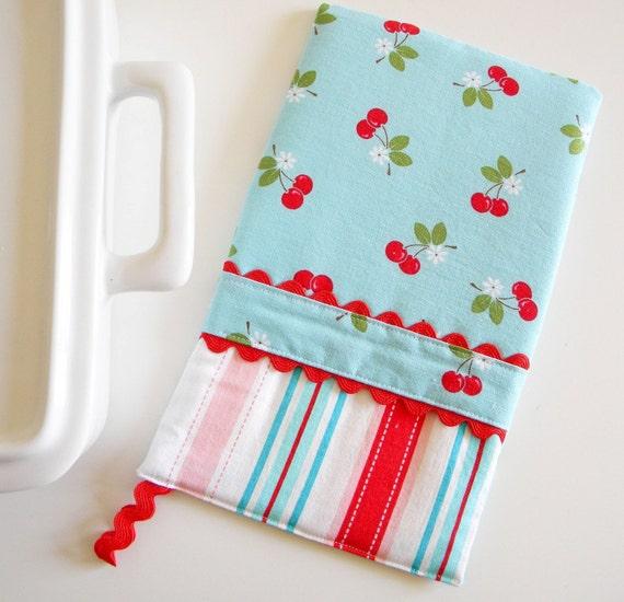 Oven Mitt - Hot Pad Cherry and Stripe