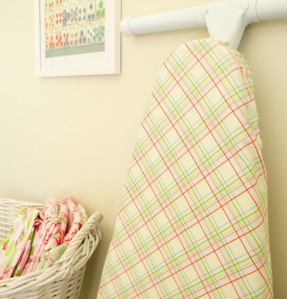 50% OFF SALE - Ironing Board Cover - Sugar Hill -  Plaid in Ivory