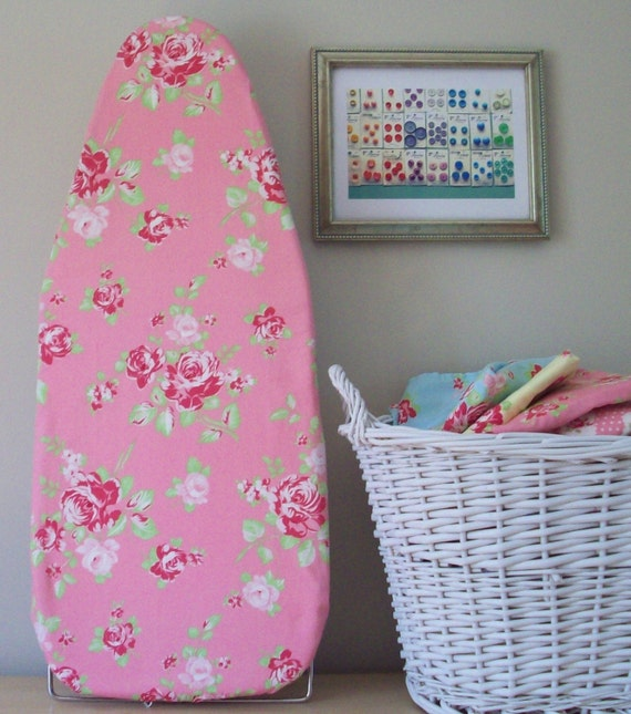 Tabletop Ironing Board Cover In Blush Pink Darla Roses