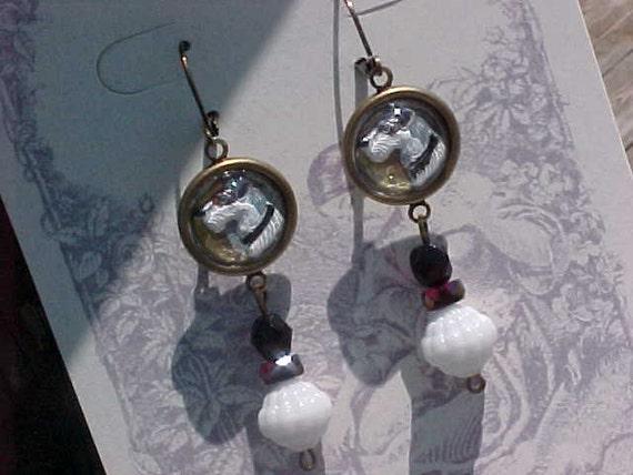 Terrier Cabachon Earrings
