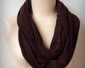 the mandizzle infinity scarf - Chocolate Brown