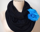 Mandizzle Oversized Infinity Scarf - Full + Soft - Black