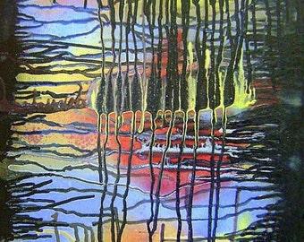 Original Abstract Painting Modern Art  - Hollow Lands - 16x20