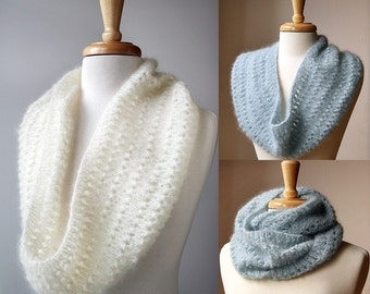 Snood Knitting Pattern - Genevieve Cowl Neckwarmer Scarf - Infinity Scarf - PDF Electronic Delivery - Hygge Winter