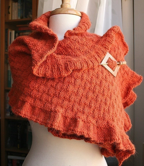 Knitting Pattern - Rococo Shawl - Knitting DIY Tutorial - PDF electonic delivery