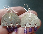 Old World Style Amethyst earring