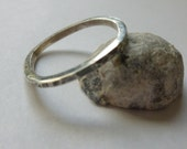 Hammered Silver Square Stacker Ring