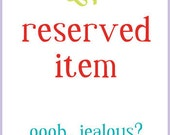 reserved item for irene