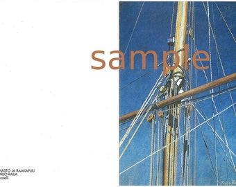 The mast. Set of 5 folding postcards.