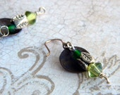 Green and Brass Dangles