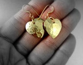 Paramour Earrings - Gold texturized Hearts