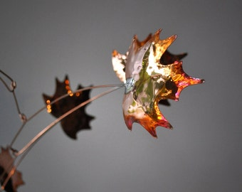 Free Shipping on Copper Mobile Art - Handmade Maple Leaf Mobile