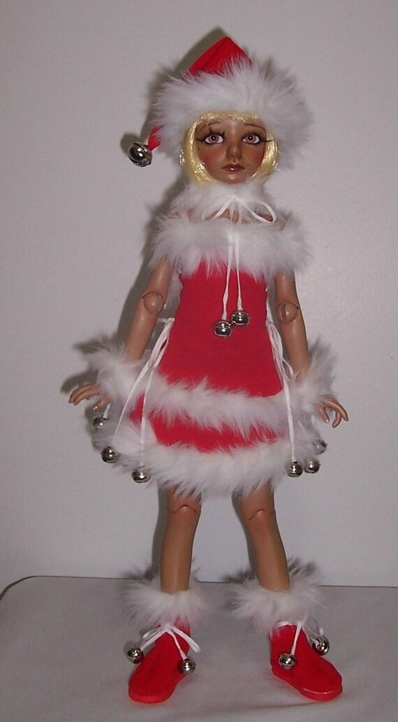 OOAK Christmas fashion set for 42 to 45 cm MSD  super dollfie bjd Girls