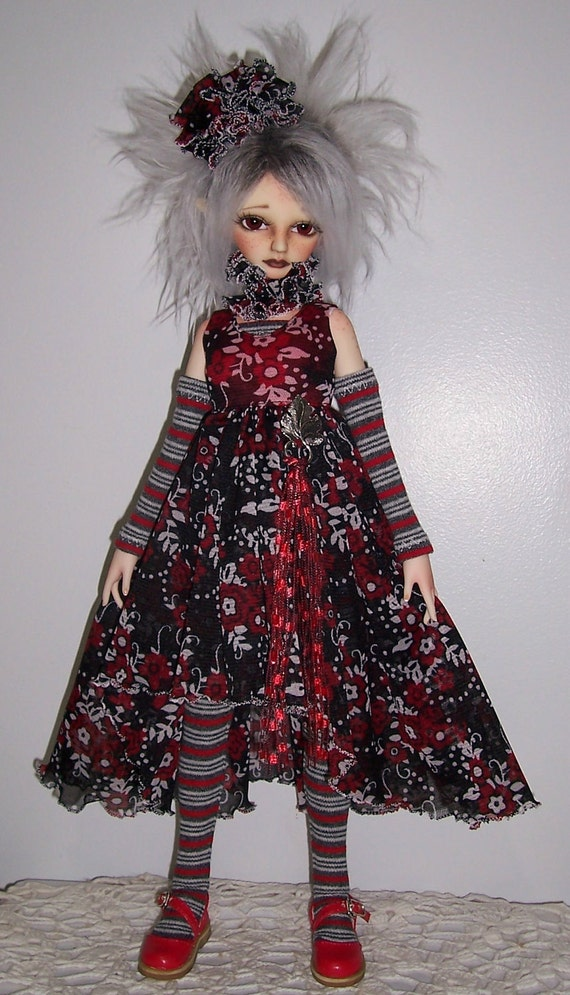 OOAK fashion set for  41 to 45 cm MSD Bjd  super dollfieGirls