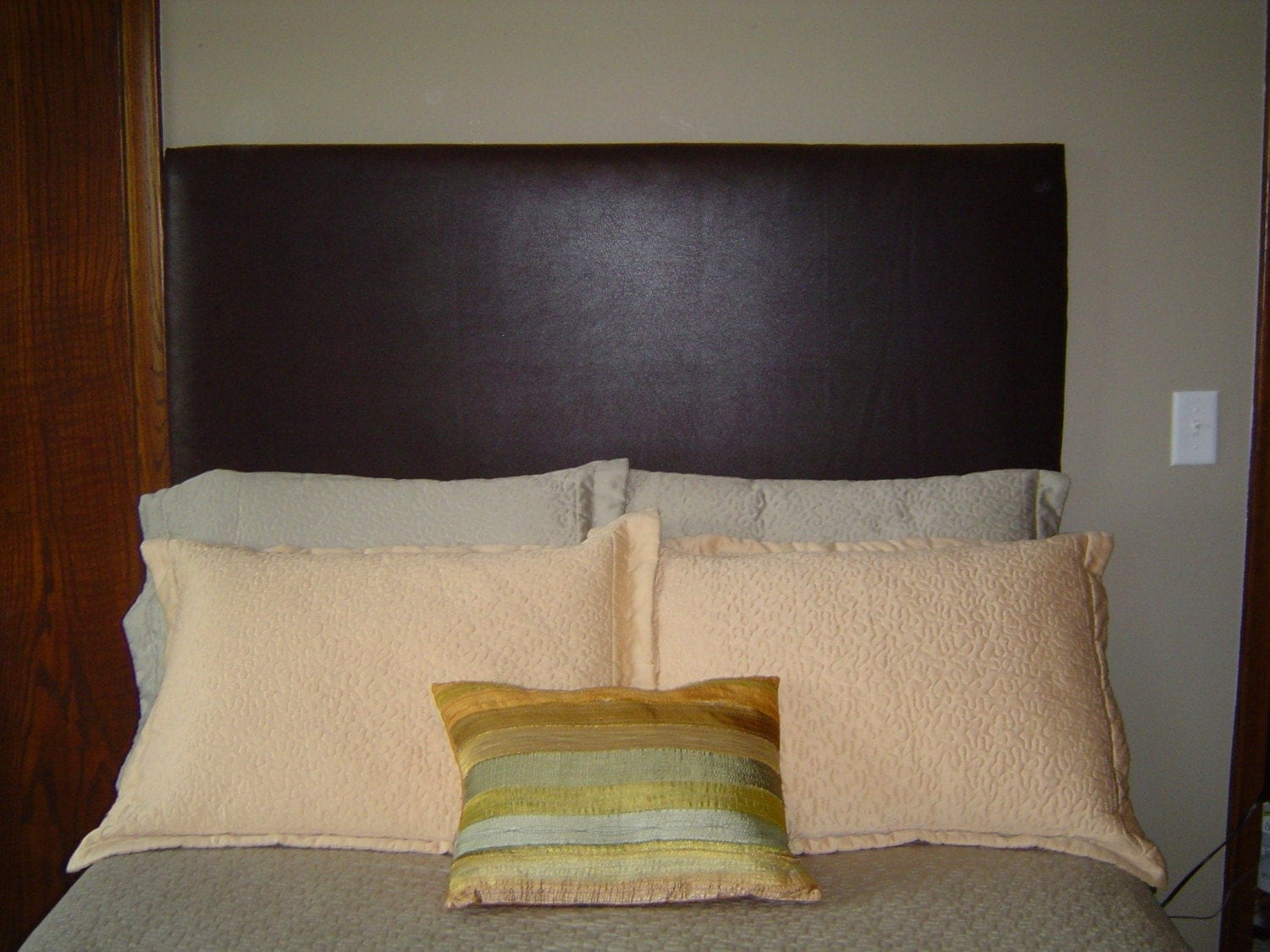custom made upholstered headboard full size your fabric