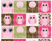 Spring Owls and Trees Digital Collage Sheet 2 x 2 Digital Collage Sheet Tags 2 X 2