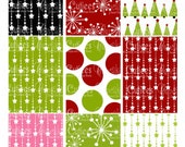 Holiday SPirit  Paper ATC digital Collage Sheets  ATC cards 2.5 X 3.5- Instant Download