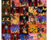 New Altered Halloween  Digital Collage Sheet 1.5 Cat and Witch altered art designs