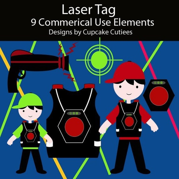 Laser Tag Clip Art Collection Great For Cards By