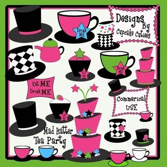 mad hatter tea party clip art - photo #9