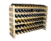 156 Bottle Modular Wine Rack--Stackable--13 Rows