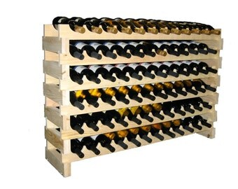 24 Bottle Modular Wine Rack--8 Bottles Wide x 3 Rows High