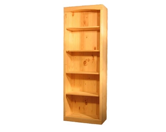 "Solid Pine Bookcase | 36""W x 70""H x 12""D 
