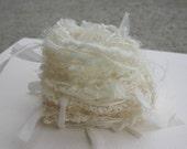 Elegant just the cream specialty yarn fiber embellishment bundle
