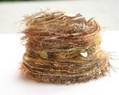 Elegant Christmas golden angel tinsel one specialty yarn fiber embellishment bundle