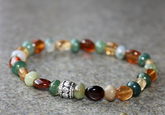 SALE- Bracelet, Jade, Multi Color, Amber,Gemstones, Bracele Set, Handmade