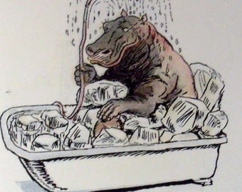 Four Footed Folk or the Children of Farm and Forest - Elizabeth Gordon - 1914 - RARE - Hippo - Bears - Forest Animals