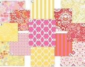 Custom Crib Baby Bedding Set - Taza in Pink and Yellow