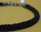 Black Thread Chinese Knotted Bracelet - Small