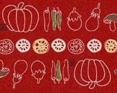 Japanese Fabric - Vegetables - Half Yard