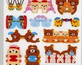 SALE Rillakuma Index Stickers - Japanese Stickers - San X