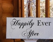 Happily Ever After THANK YOU DOUBLE sided Wedding Decoration Flower girl Use 2 X 8x16