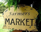 16 X 23 1\/2   Cottage Farmers MARKET Handmade Sign
