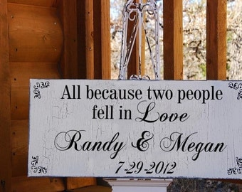 Custom Save The Date, LOVE, Wedding Sign, WEDDING Decorations Cottage Chic 20x10
