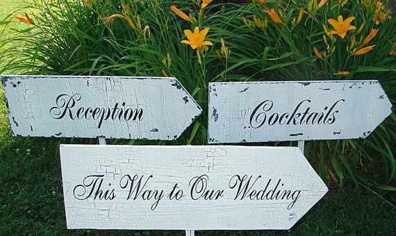 Cocktails / Ceremony / Reception Wedding Signs By Familyattic