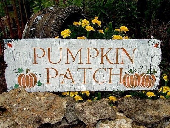 Cottage Autumn Sign Pumpkin Patch 10x30 Fall Harvest Decor