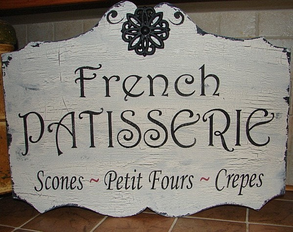 French Sign 17x24 French Patisserie Bakery Vintage Style Hand