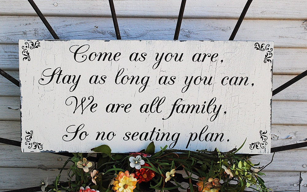 No Seating Plan Wedding Signs Wedding Decorations ONE STOP