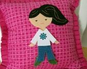 Cloth Paper Doll Pillow Pretend Dress Up Set