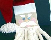 Santa Claus Fleece Scarf for Christmas and Winter